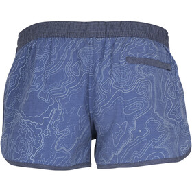 United By Blue Topography Short de bain Femme, blue